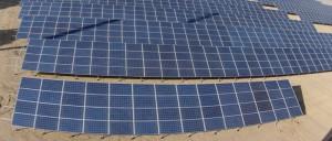 Solar Panels In Sand