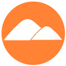 Orange Absolutely Solar Mountain Logo