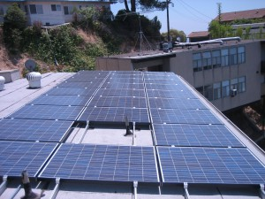 solar panels rooftop