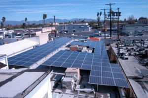 commercial building solar panels