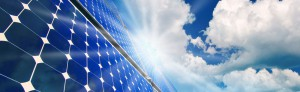 Solar Panel and Clouds