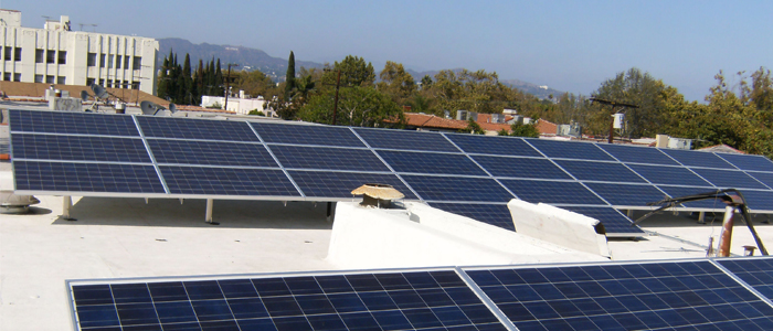 Apt Building Hollywood solar panels