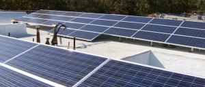 Solar Panels on Hancock Park Apartment Building