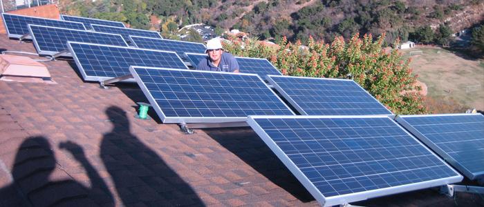mulholland drive solar panel system